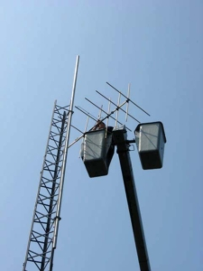 Installing the new CJLU FM Antenna at Blomidon